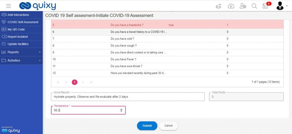 Employee Self-Assessment Workplace Health and Safety Apps