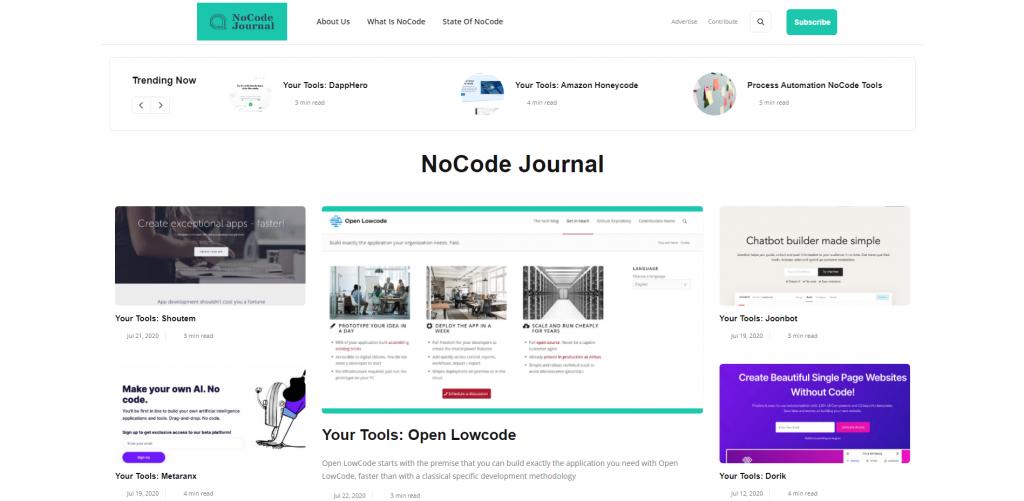 nocode journal_no-code community