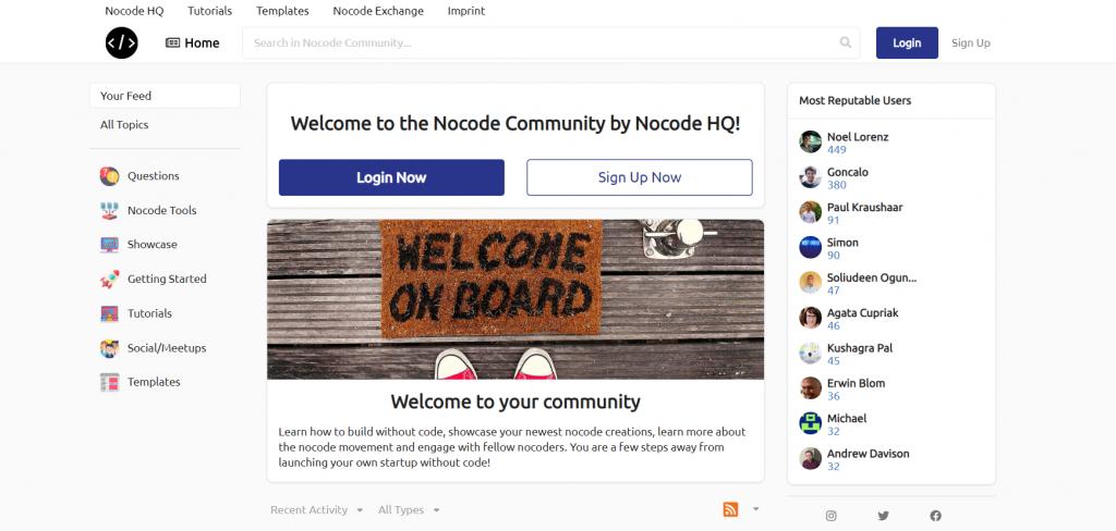 NoCodeHQ Community