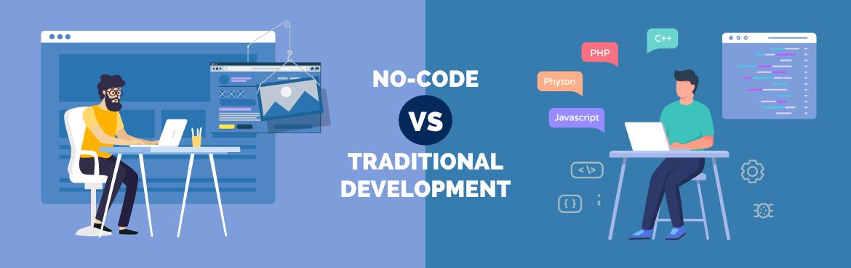 No-code vs. traditional development