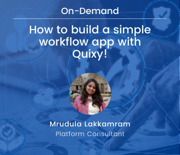 Build simple workflow app with Quixy