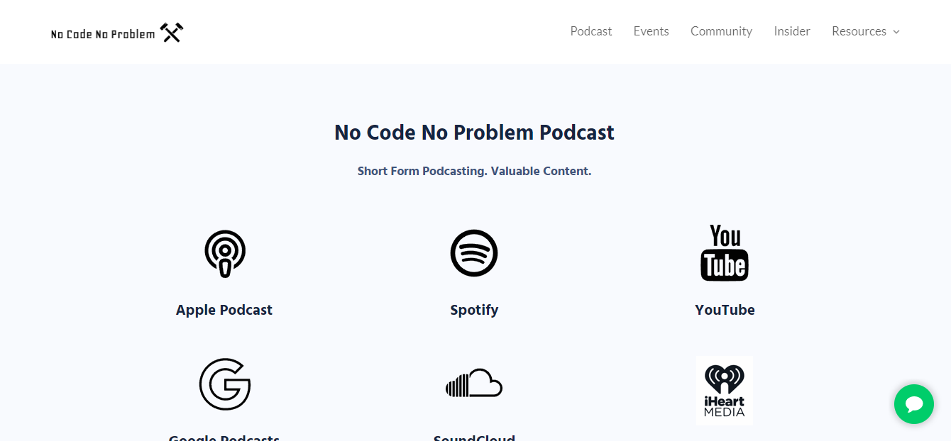 No Code No Problem podcast