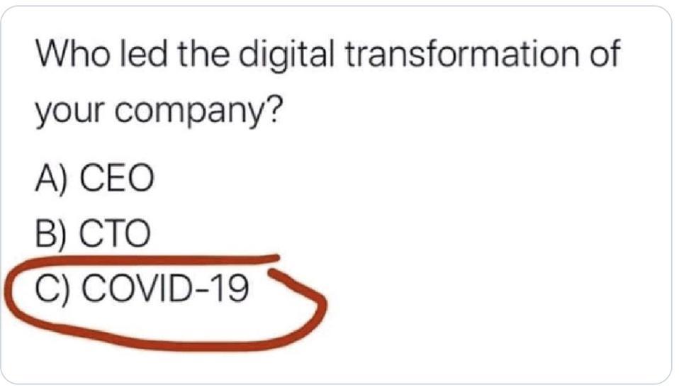Digital Transformation image circulating over internet