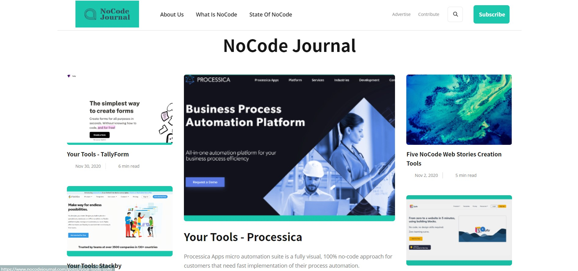 No-code journal