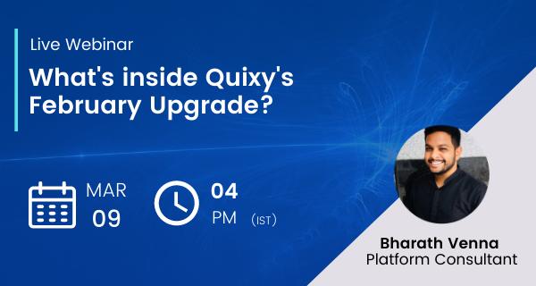 Quixy February Upgrade