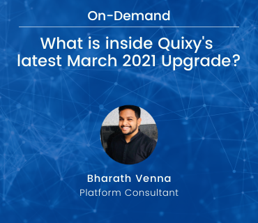 What is inside Quixy's latest February 2021 Upgrade