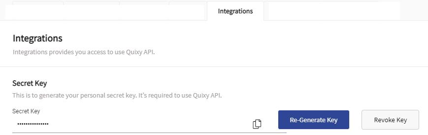 Quixy Integrations
